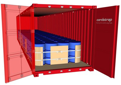 Container lashing with CornerLash | Cordstrap