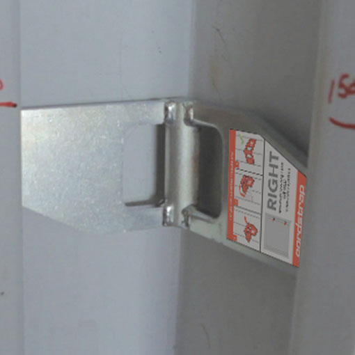 Corner element of Cornerlash container lashing solution using the corner post to safely secure cargo.