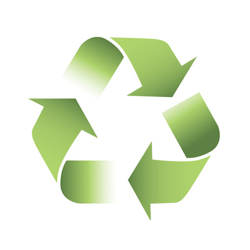 recycle logo with green arrows